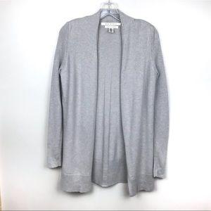 Max Studio | Grey Open 2-Ply Cashmere Cardigan